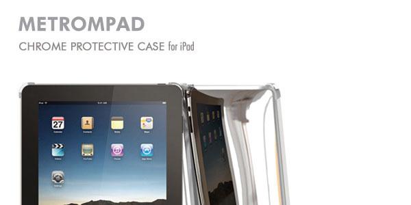 iPod touchのステンレス背面を再現したiPadケース