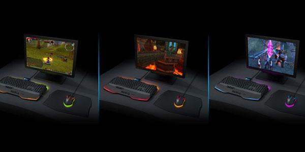 ゲームシーンに合わせて周辺機器のLED色を変更する『ROCCAT Talk FX』
