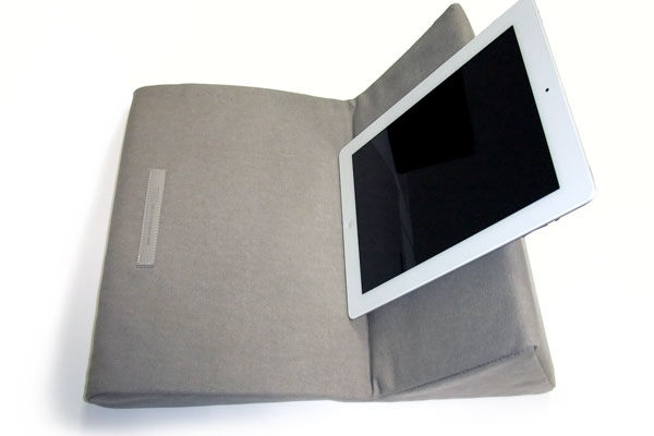 ipevo-padpillow-ipad-stand-review-khaki-stand-open