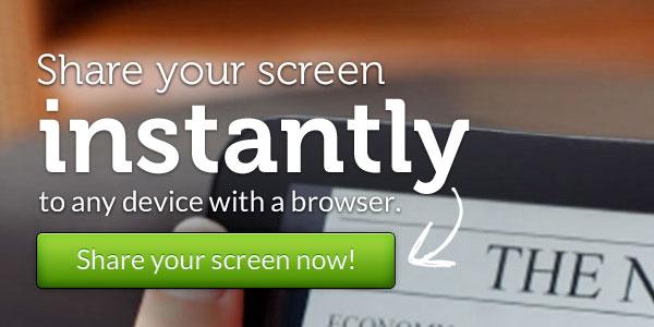 環境を問わず無料で複数人へ自分のデスクトップを共有できる『Screenleap』