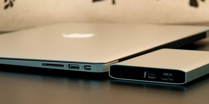 超美しいThunderbolt外付けHDD『Mg』を、Thunderbolt外付けSSDとして使ってみた。