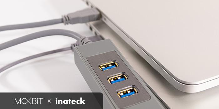 【レビュー】マウスやキーボードを共有できるUSB3.0ハブ『Inateck HB4009』